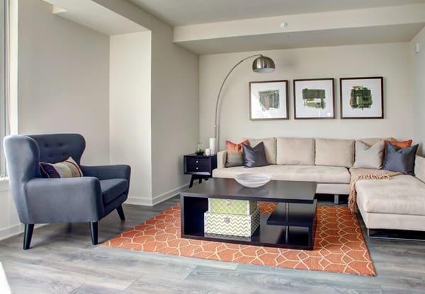 Hodge on 7th sample unit living room
