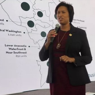Mayor Muriel Bowser at an October event